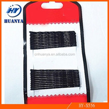 22 Loaded 6CM Plate Steel Small Hairpin Hairpin Black Wavy Advanced Word Steel Clip Plate Hairpin