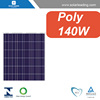 Poly crystalline soalr panel 140W with solar juction box for solar energy system