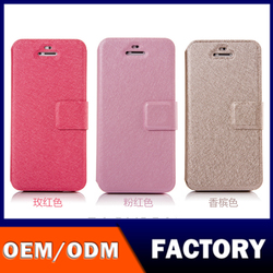High quality OEM customized Leather Case Silk Texture Christmas Pattern Smart Phone PU Wallet Leather Mobile Phone Case