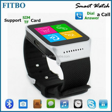 "Wonderful ! 1.54"" Single SIM TF cell phone wrist watch for Apple 5"
