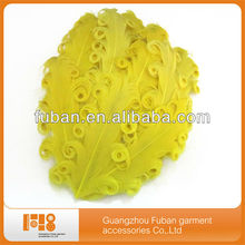 2014New! wholesale curly nagorie feather pads,Goose Feather
