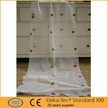 patrón de la flor bordada escarpada de lujo cortinas y cortinas