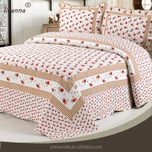 Woven new style 100% cotton cartoon cherry bedding set for kids