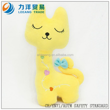 Plush cat for kids(yellow), Customised toys,CE/ASTM safety stardard