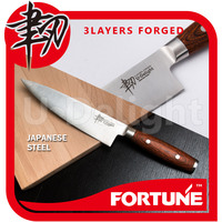 Japanese AUS-10 3-Layer Forged Steel Cooking Chef Knife with PakkaWood Handle