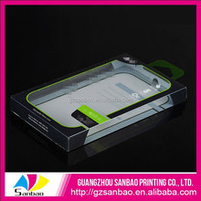 chinese clear PET box packaging for phone screen protector with logo for retail