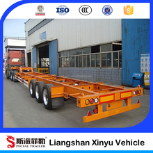 20ft 40ft container tractor trailer chassis