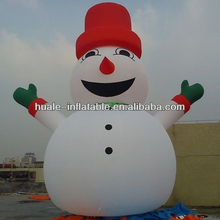 Christmas inflatable lovely snowman, big inflatable snowman for advertising