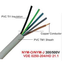 Nym 300/500 V Cu/PVC/PVC Cable (VDE 0250-204/HD 21.1)