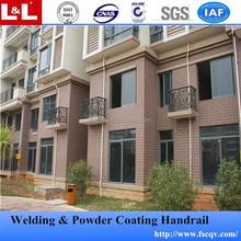 Protection contre la Corrosion en aluminium main courante balustrade avec fleurs