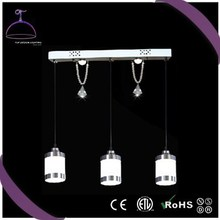 2015 contemporary pendant lights with glass shade and crystal