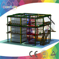 2015 New Indoor high obstacle ropes course, hot-sale adventure course, indoor playground equipment HSZ-JS060