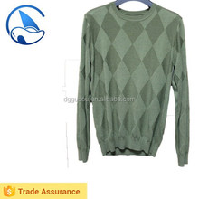 Intarsia cheap men sweater/rhombus design knitwear