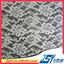 popular 100 cordón de poliéster tela para vestido de noche