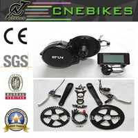 CE approved !e bike 48v 350w 8fun mid mount brushless conversion motor kits with 48v battery