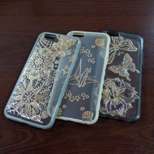 water transfer 3D metallic gold silver phone body cover changeable skin
