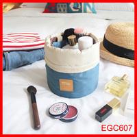 wholesale alibaba Cylinder shaped storage bag pulling rope waterproof organizer bag travel dresser pouch makeup organizer bag