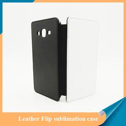 Sublimation leather flip case for Samsung J5 with white fabric