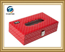Classical Charming Red Furniture Tissue Case Holder Box Cover