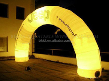Best Design Big Yellow LED Inflatable Lighting Arch, inflatable arch for wedding K4001