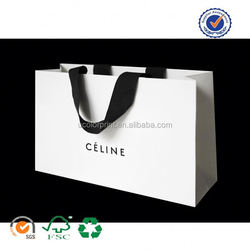 U color Customized cheap kraft paper shopping bag