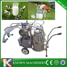 2015 Best sell ! stainless steel Automatic cow milking machine,single cow portable milking mac