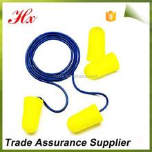 Recuperação lenta espuma amarela anti ruído earbud