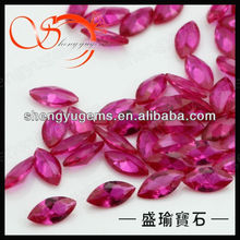 synthetic marquise ruby for jewelry decoration