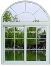 cheap 5mm thickness double glazing heat insulation pvc arched casement window