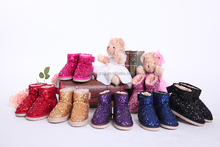 2015 happy new years last fashion winter boot children leather shoes