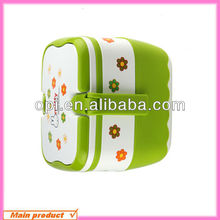 BPA free kid plastic lunch box /food container with handle