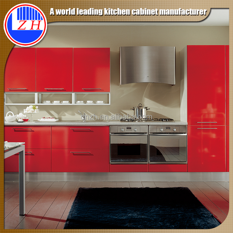Best price red color kitchen cabinet kitchen furniture for Best value in kitchen cabinets