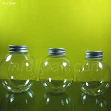 Clear Ball Shaped Plastic PET Bottle/jar