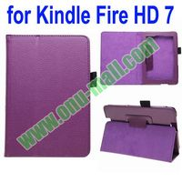 High Quality Leather Cover Case for Kindle Fire HD 7