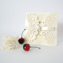 Chinese fashion Red Leaves Laser Cut Wedding Invitation Card IC1020-07 (Color Could Be Customized)