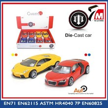 New 1:24 scale with light and music intelligent diy model metal car toy
