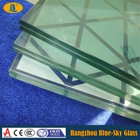 16.76mm security laminated glass