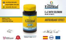Vitaminas C+E con Selenio. 50 Comprimidos - Suplemento vitamínico