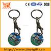 Custom metal printing logo trolley token keyring for promotional