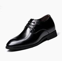 2015 Guangzhou Factory Fashion Men's Leather Dress Shoes Hidden High heel shoes for men