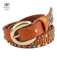 Colorful Pin Buckle Women PU Leather Belt