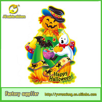 3d wall sticker lovely Paper Pumpkin Man for halloween