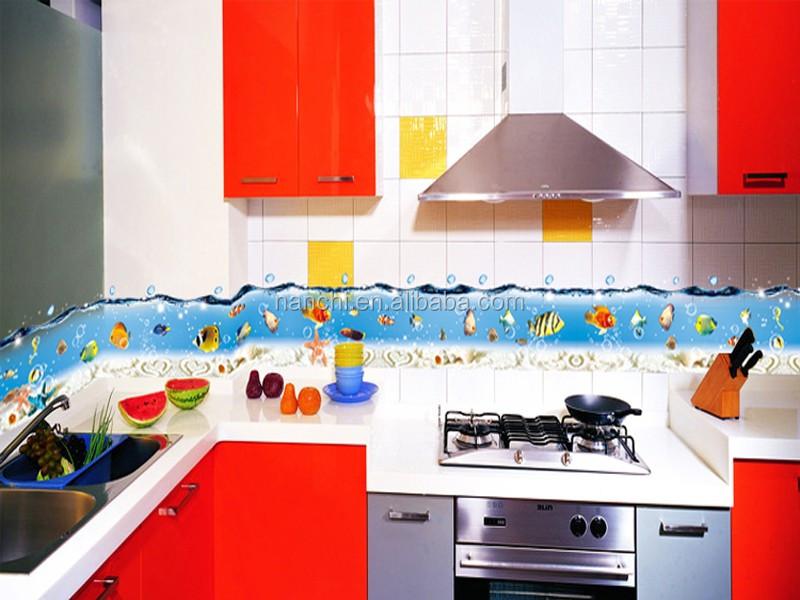 cartoon sea world bagno vasca da bagno sticker smontabile del vinile bagno adesivi per piastrelle