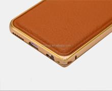 LUXURY DESIGNER LEATHER & CHROME CASE FOR iPhone6