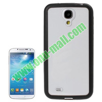 Transparent Plastic and TPU Rubber Bumper Case for Samsung galaxy S4 i9500