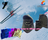 FL-15 Ningbo Lingshang be mad from 100% polyester and fleece colorfuldesign be used for unisex NECK WARMER balaclava