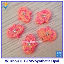 New style diamond cz hand shape opal opal hamsa hand synthetic hand opal
