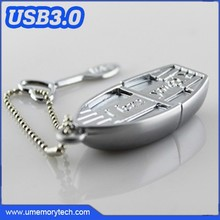 Metal boat shape oem usb flash drive custom logo pen drive customized usb