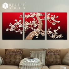 3d abstract painting designs, abstract elephant painting, 3 panel oil painting