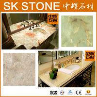 bathroom Carrara white marble vanity top hand painted wash basins stone washbasin